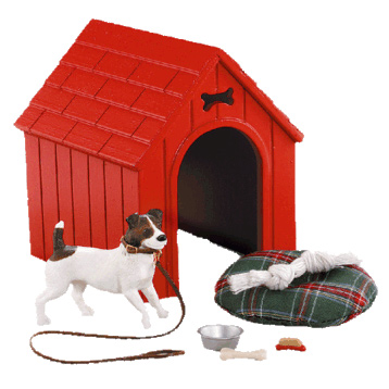 Dog House Gift Set - With Jack Russell