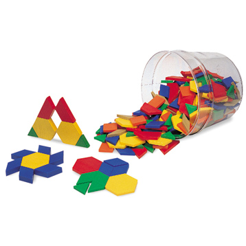 Plastic Pattern Blocks 0.5cm (Set of 250)