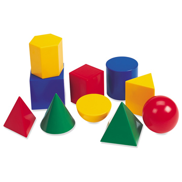 Large GeoSolids Plastic Shapes