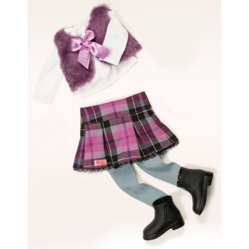 A Taid Plaid Doll Outfit