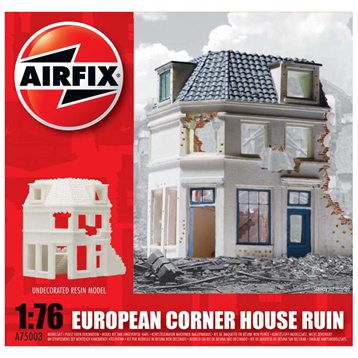 European Ruined Corner House 1:76