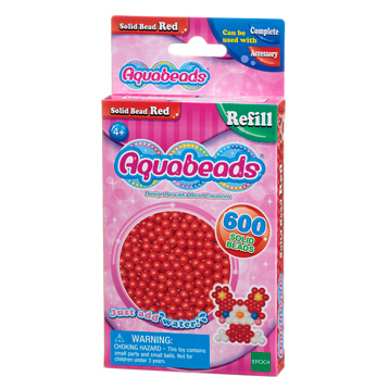 Red Solid Bead Refill Pack