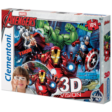Marvel The Avengers 3D Vision Jigsaw Puzzle (104 Piece)