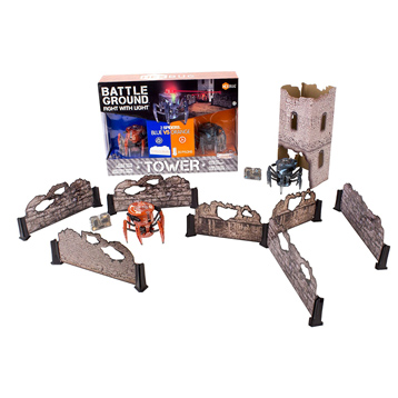 Battle Ground Tower Set with Two Remote Control Robot Spiders