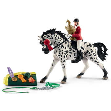 Horse Club Show with Knabstrupper Mare Figure & Accessory