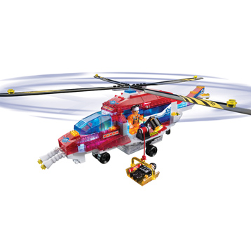 Lite Brix Rescue Helicopter