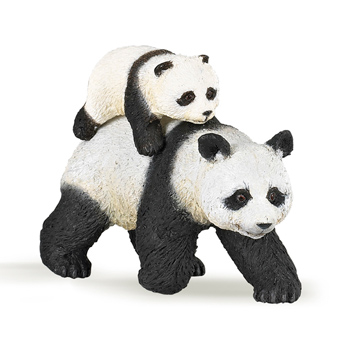 Wild Animal Kingdom Panda and Baby Panda Figure