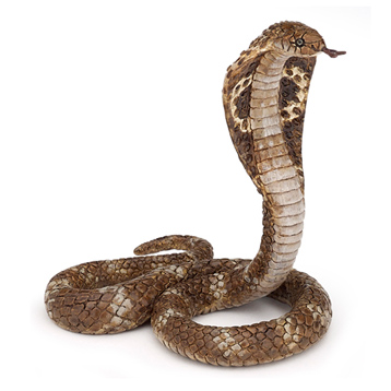 Wild Animal Kingdom King Cobra Figure