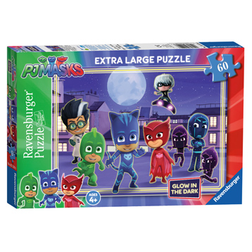 PJ Masks Extra Large Glow in The Dark Jigsaw Puzzle (60 Piece)