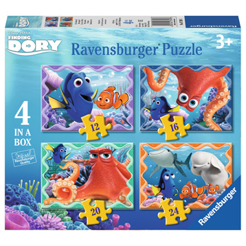 Ravensburger Finding Dory 4 in a Box Puzzle