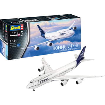 Boeing 747-8 Lufthansa New Livery Model Kit (Level 5) (Scale 1:144)