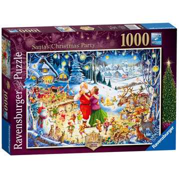 Ravensburger Santa's Christmas Party 1000 Piece Jigsaw Puzzle