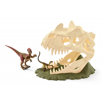 Dinosaurs Large Skull Trap with Velociraptor Playset