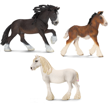 Horse Club Shire Horse Family Figures