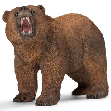 Wild Life Grizzly Bear Figure