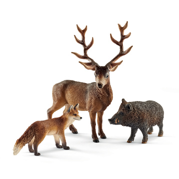Wild Life European Forest Dweller Figure Pack