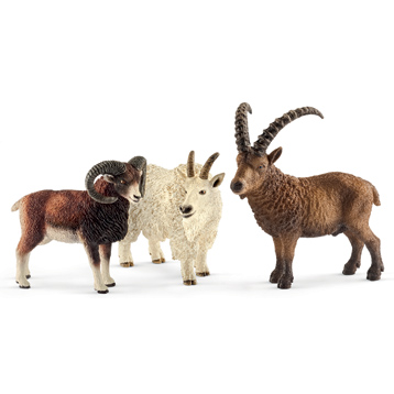 Wild Life Mountain Animals Figure Pack
