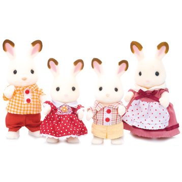 Chocolate Rabbit Family Figures