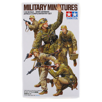 WWII German Africa Corps Infantry (Scale 1:35)
