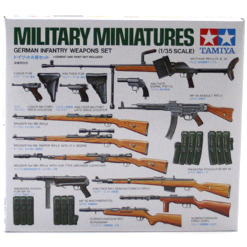 WWII German Infantry Weapons Set (Scale 1:35)